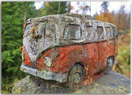 Postcard Holzklasse