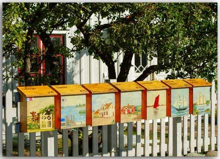 Postkarte Briefkästen in Pataholm