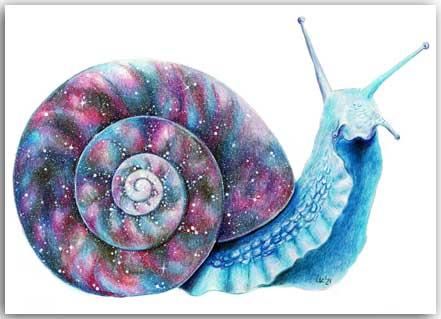 Postkarte Galaktische Schnecke
