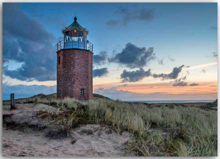 Postkarte Leuchtfeuer Rotes Kliff