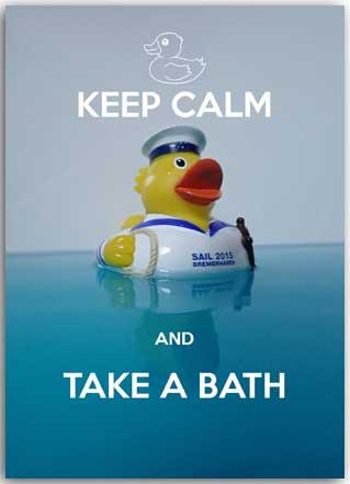 Postcard Keep Calm and take a Bath