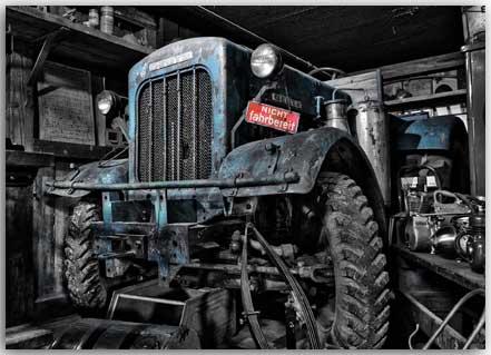 Postkarte Traktor