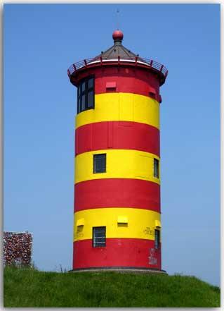 Postkarte Pilsumer Leuchtturm