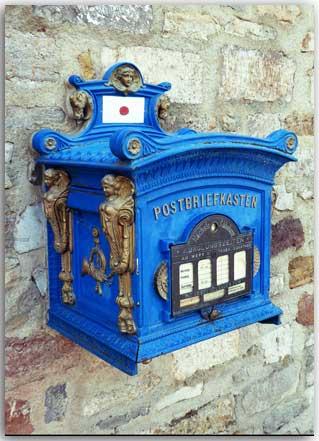Postkarte Postbriefkasten
